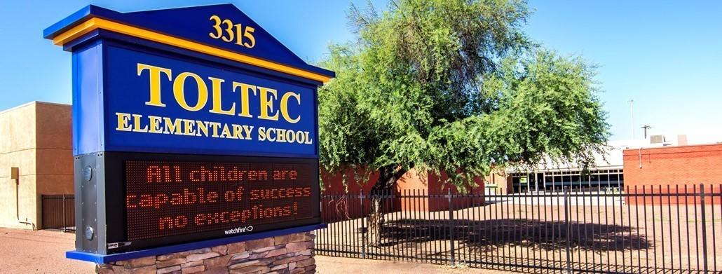 Toltec Elementary School Marquee